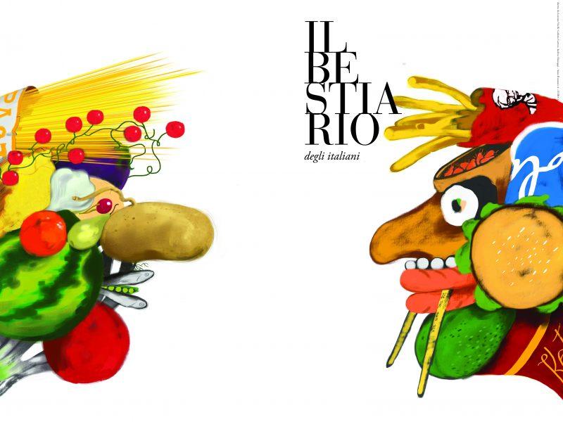 """La copertina del nuovo numero del Bestiario, finalmente disponibile sul nostro sito. In copertina: """"Arcimboldo Bifronte"""". Del nostro Mario Damiano"""