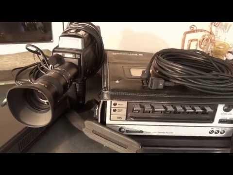 Set Panasonic National WV-3300E vidicon tube colour TV camera 1976.