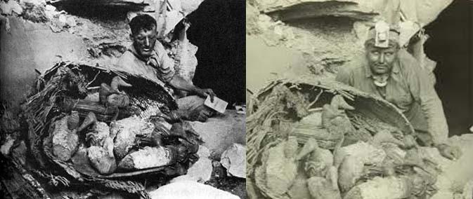 reperti ritrovati nella caverna di Lovelock